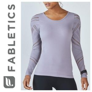 FABLETICS Isabella Seamless Long Sleeve Crochet